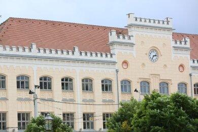 Blick auf das Zwickauer Rathaus.