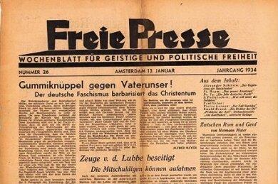 """Die """"Freie Presse"""" aus Amsterdam aus dem Jahre 1934."""