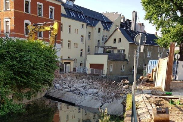 Die ehemalige Zoppabrücke von der anderen Seite: Das Verfahren gegen den zuständigen Abriss-Unternehmer soll gegen eine Geldauflage eingestellt werden. Der Vorwurf des Vorsatzes wurde fallengelassen.