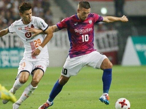 Lukas Podolski sah die Rote Karte