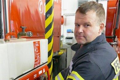 Kennt sich aus mit Technik: Wehrleiter Jörg Aurich.