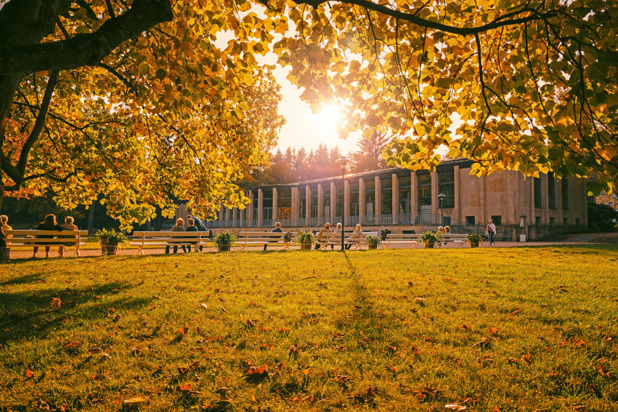 Herbst im historischen Kurpark Bad Elster