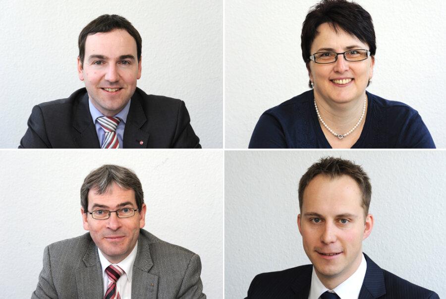 Die Experten: Oben: Karsten Lohr und Kerstin Matschke; unten: Dirk Schüller und Robert Wolf