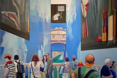 """Verena Landau stellt auch dieses Ölbild aus dem Zyklus """"Venice in Sight (2010 - 2020)"""" aus."""