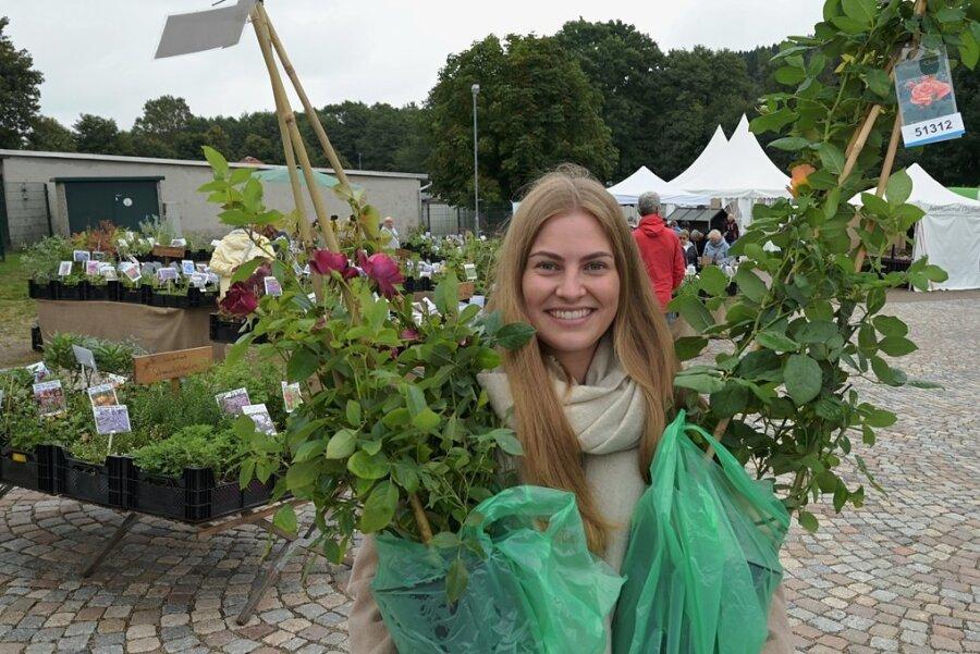 Sophie Puschner ging mit Rosenstöcken nach Hause.
