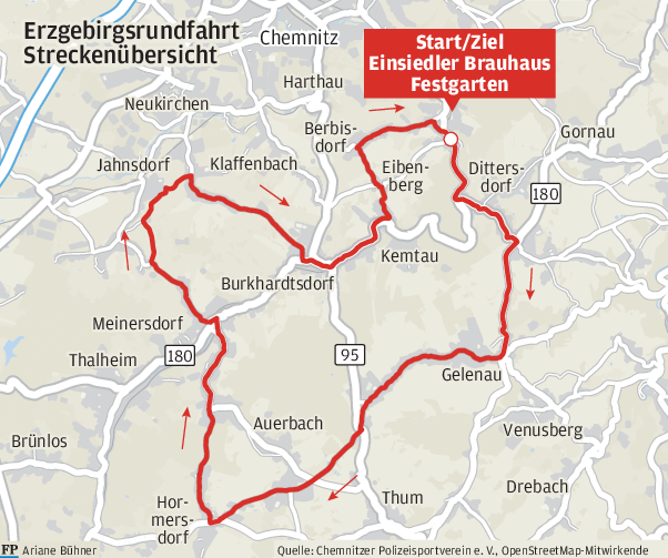 Erzgebirgsrundfahrt: Die Sonntagsrunde gibt's diesmal am Samstag