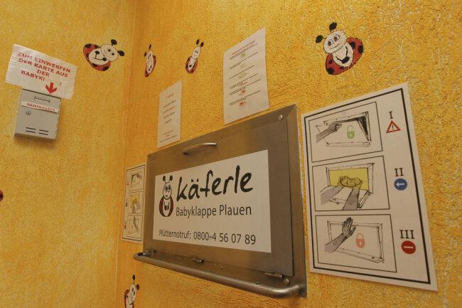 In der Plauener Babyklappe ist Sonntagnacht ein neugeborener Säugling abgelegt worden.