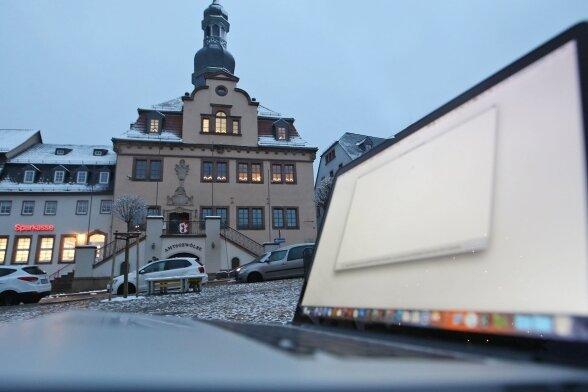 Mitarbeiter aus dem Rathaus in Waldenburg können bisher kaum Homeoffice-Angebote nutzen.