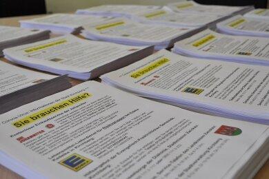 Die Stadt Kirchberg hat lokale und regionale Hilfsangebote auf einem Flyer zusammengefasst, der nun an alle Haushalte der Stadt verteilt wird.