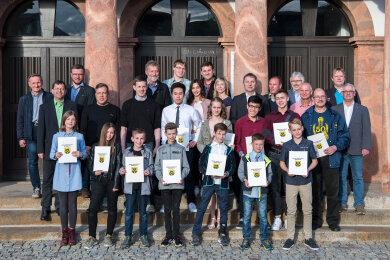 Die Stadt Rochlitz hat bei der Sportlerehrung am Donnerstagabend 20 erfolgreiche Sportlerinnen und Sportler ausgezeichnet.