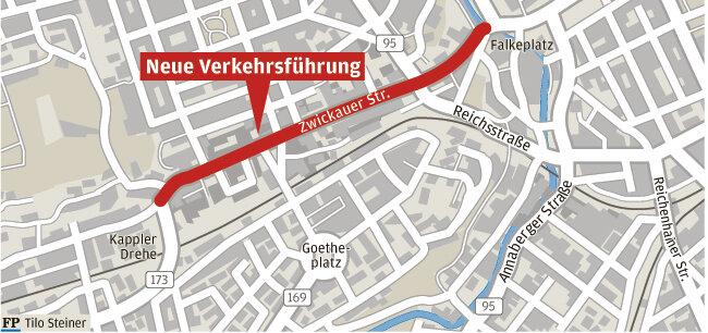 Rathaus will Zwickauer Straße sicherer machen