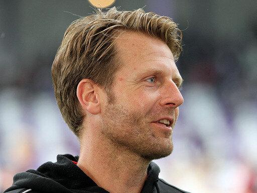 Glücklich: Trainer Rico Schmitt von Erzgebirge Aue