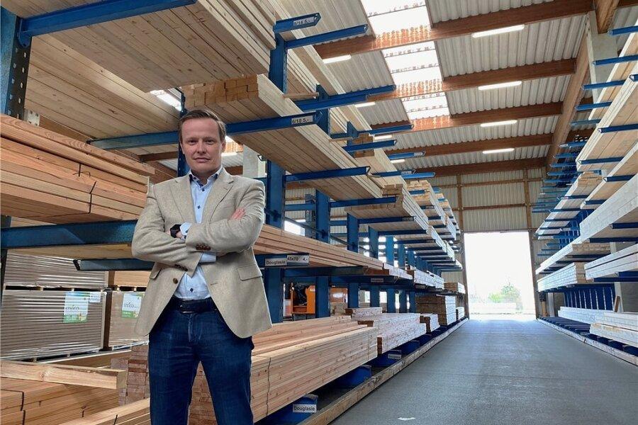 Martin Bruns, Geschäftsführer des Plauener Holzgroßhandels Wurzbacher