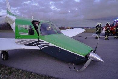 An der Propellermaschine entstand erheblicher Sachschaden.
