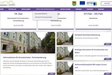 Auch ohne Tag der offenen Tür: Das Gymnasium Zschopau verlegt die Informationen ins Internet.