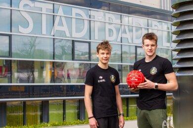 Max Rössel (links) und Finn Taubert vom SVV Plauen sind im Herbst an die Sportschule nach Potsdam gewechselt. Dort haben sich schnell die ersten sport-lichen Erfolge eingestellt.