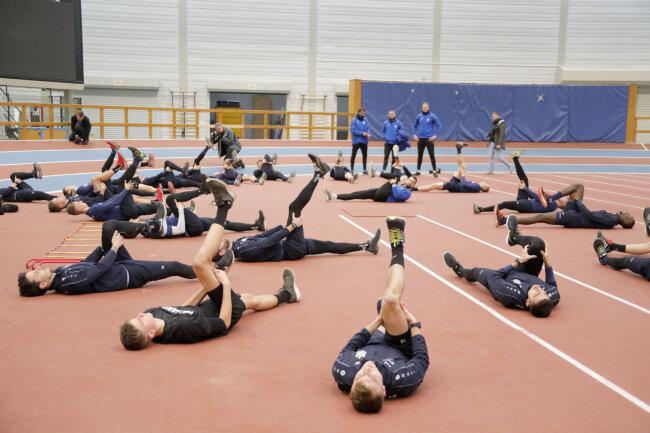 Auf dem Programm standen Stabilisations- und Athletiktraining.