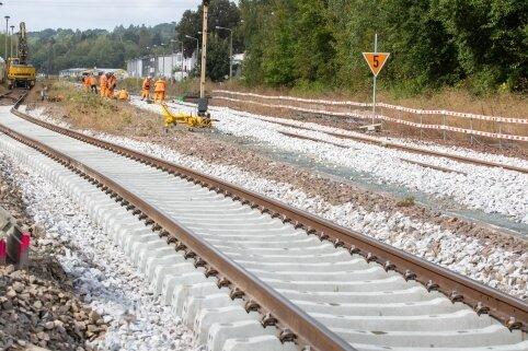 Gleisbau dauert noch bis Ende Oktober