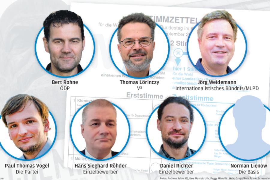 Bundestagswahl: Wer in Chemnitz für die kleinen Parteien antritt