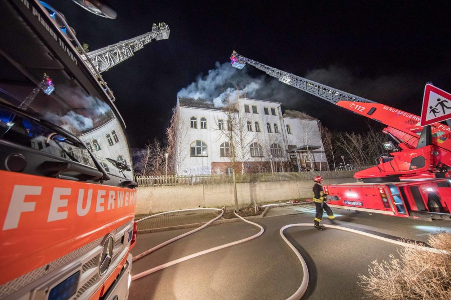 10.000 Euro Schaden nach Feuer in alter Jugendherberge in Jössnitz