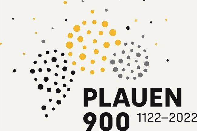 Geburtstagslogo für Plauen: Die 900 in Punktform soll ein Feuerwerk darstellen.