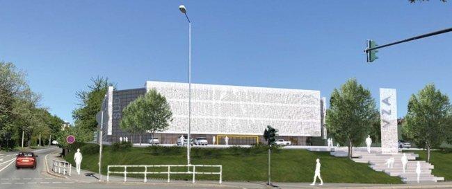 So soll die neue Halle am Lessing-Gymnasium in Plauen aussehen. Wer wird sie aber betreiben?