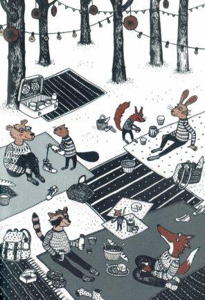 """Detailreich machen die Zeichnungen in Helene Graupners Buch Lust auf """"Picknick""""."""