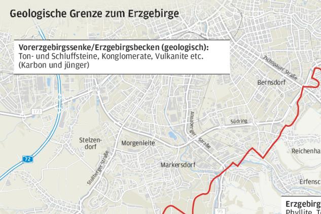 Eine Grenzsuche: Wo in Chemnitz das Erzgebirge beginnt