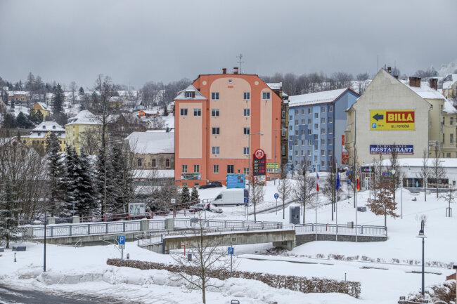 Ruhe am Grenzübergang Bärenstein/Vejprty