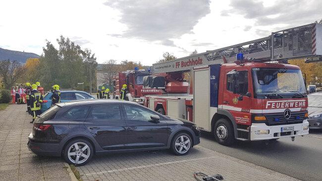 Am Freitagmittag rückte die Feuerwehr in das Wohngebiet Adam Ries aus.
