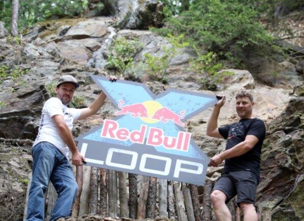 In der Sektion Ofenrohr: Die Vereinsvorsitzenden Matthias Schubert (l.) und Falko Haase wollen mit einem Prolog den Extrem-Enduro-Fans noch mehr bieten.