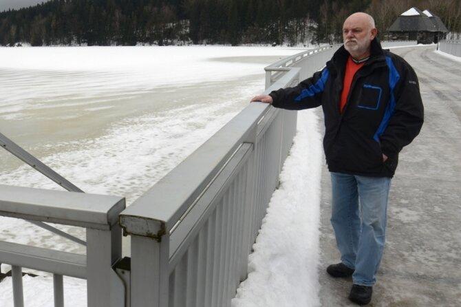 Talsperre Werda bereit für Schnee aus dem oberen Vogtland