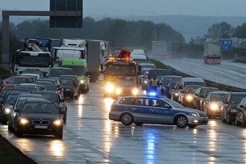 Polizei stoppt Geisterfahrerin auf der A4