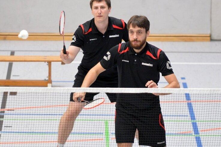 Starker Auftritt: Florian Honeit (v.) und Marcus Gast haben am Samstag ihre beiden Doppel für den ATSV Freiberg gewinnen können.