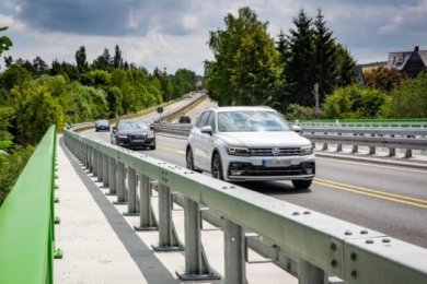 Nach großen Bauarbeiten für rund 1,1 Millionen Euro rollte der Verkehr im Juni 2018 wieder. Nun wird auf der B173 erneut gebaut.