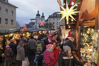 Der Plauener Weihnachtsmarkt fällt in diesem Jahr aus.
