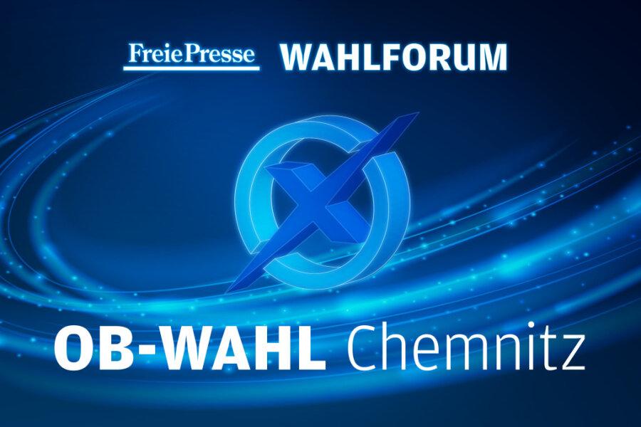 """OB-Wahl in Chemnitz - Das """"Freie Presse""""-Wahlforum im Video"""