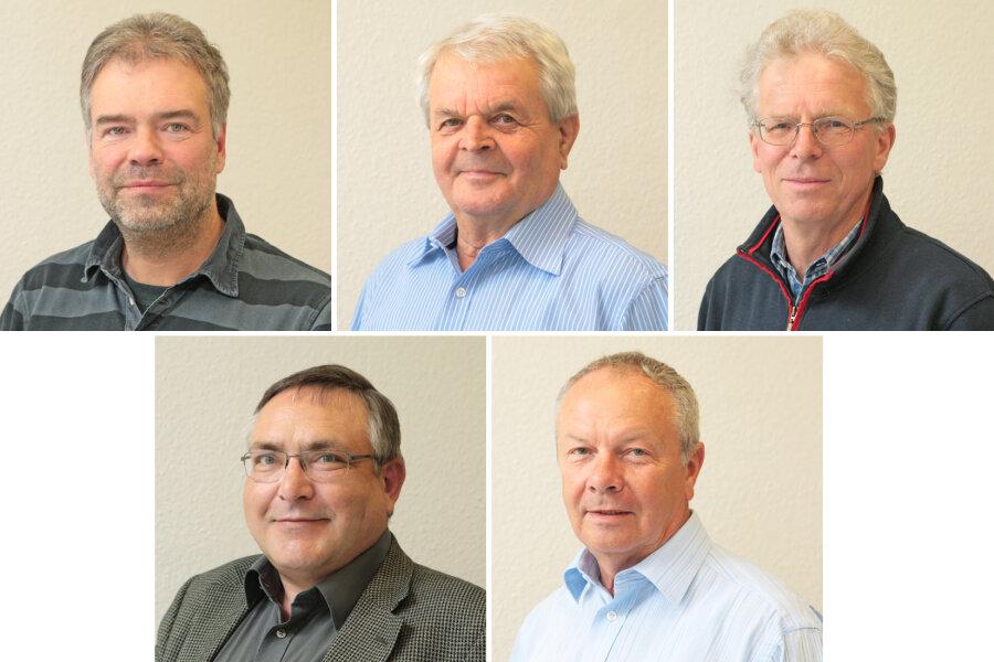 Oben: Peter Ohm, Gerhard Kästner und Ulrich Siemer; Unten: Hans-Joachim Wierick
