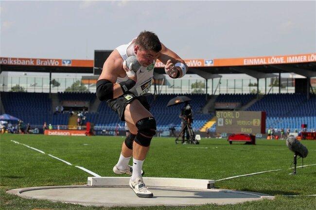 Welt- und Europameister David Storl (Foto bei DM in Braunschweig) gehört zu den prominentesten Startern beim Traditionsmeeting.