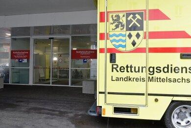 Die Notaufnahme in Freiberg (Bild) verzeichnet eine starke Zunahme ambulanter Fälle.