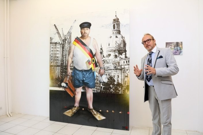 """Aktivist a.D."" und Graffiti-Aktivist Jens Müller alias Tasso (rechts)."