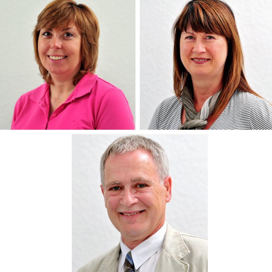 Die Experten: oben: Manuela Budewell und Sabine Fischer; unten: Klaus Weber