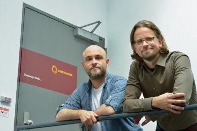 """Als einst Branchenfremde nun ganz weit vorne: Sebastian Ullmann (l.) und Andreas Geisler haben mit ihrer Markenagentur Artkolchose zwei Auszeichnungen beim """"German Brand Award"""" gewonnen."""