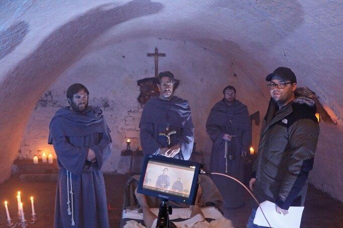 """Die Anfangsszene zum Film """"Rapunzels Fluch"""" wurde im vergangenen Jahr im Schloss Glauchau gedreht."""