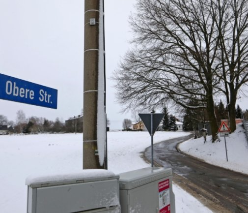 Die Obere Straße in Reinholdshain wird grundhaft ausgebaut.