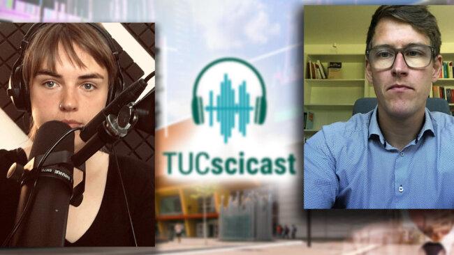 Lara-Lena Goedde und Tom Mannewitz sprechen im aktuellen Podcast der TU über die Bedeutung von Verschwörungsmythen.