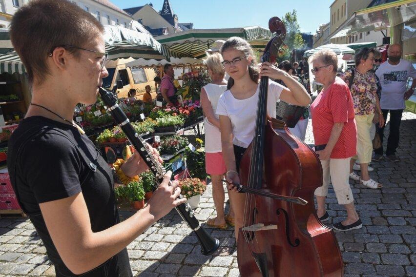 Einkaufen mit Musik beim Heimatmarkt