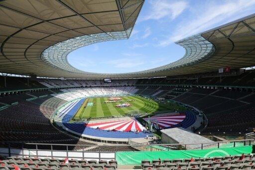 Das Berliner Olympiastadion ist am Freitag ausverkauft