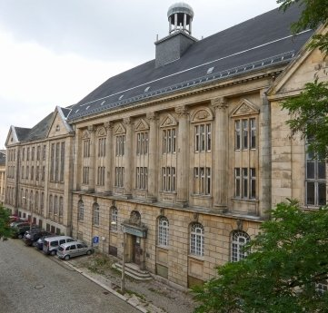 Das Ernst-Seifert-Haus ist Bestandteil des denkmalgeschützten Palla-Komplexes.