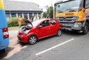 An der Leipziger Straße kam es am Freitagnachmittag zu einem Verkehrsunfall.